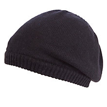 Buy John Lewis Plain Knit Beret, Black Online at johnlewis.com