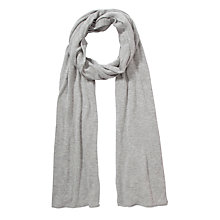 Buy John Lewis Plain Knit Scarf, Grey Online at johnlewis.com