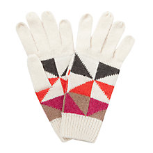 Buy John Lewis Geometric Triangle Gloves Online at johnlewis.com
