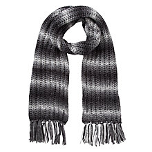 Buy Collection WEEKEND by John Lewis Spacedye Chunky Scarf, Grey Online at johnlewis.com