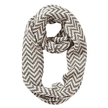 Buy Collection WEEKEND John Lewis Zig Zag Snood, Cream / Grey Online at johnlewis.com
