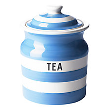 Buy Cornishware Tea Storage Jar, Blue Online at johnlewis.com