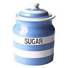 Buy Cornishware Sugar Storage Jar, Blue Online at johnlewis.com