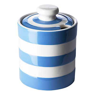 Cornishware Honey/ Marmalade Pot, Blue