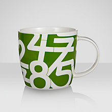 Buy House by John Lewis Number Pattern Mug, Green Online at johnlewis.com