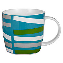 Buy House by John Lewis Rectangle Pattern Mug, Teal Online at johnlewis.com