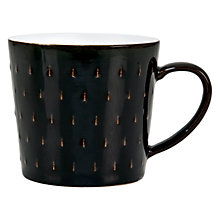 Buy Denby Jet Black Cascade Mug Online at johnlewis.com
