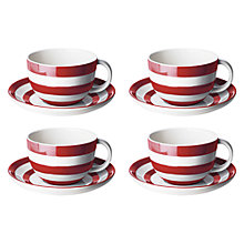 Buy Cornishware Cup & Saucer Set Online at johnlewis.com