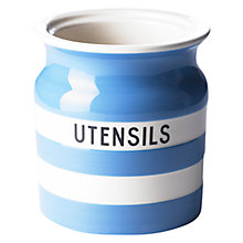 Buy Cornishware Utensil Jar, Blue Online at johnlewis.com