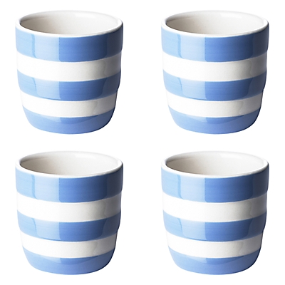 Cornishware Egg Cup, Blue, Set of 4