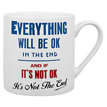 Buy Wild & Wolf Everything Will Be Ok Mug Online at johnlewis.com