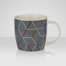 Buy House by John Lewis Geometric Mug, Grey Online at johnlewis.com