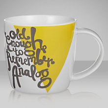 Buy House by John Lewis Word Pattern Mug, 0.3L, Yellow Online at johnlewis.com