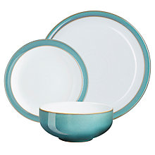 Buy Denby Linen Tableware Set, 12 Piece Online at johnlewis.com