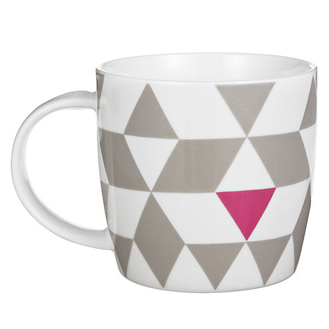 Buy House by John Lewis Triangle Print Mug, 0.3L Online at johnlewis.com