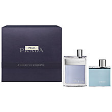 Buy Prada Amber Pour Homme Fragrance Gift Set, 100ml Online at johnlewis.com