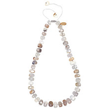 Buy Lola Rose Bryson Multi White Agate Necklace, White Online at johnlewis.com