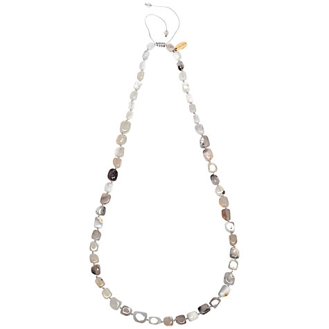 Buy Lola Rose Stacey Multi White Agate Necklace, White Online at johnlewis.com
