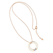Buy Folli Follie Colourful Enamel and Crystal Open Circle Pendant, Rose Gold / White Online at johnlewis.com