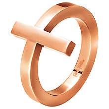 Buy Folli Follie Carma Rose Gold Plated Ring Online at johnlewis.com