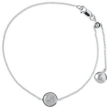 Buy Links of London Pave Diamond Essentials Bracelet, Silver Online at johnlewis.com