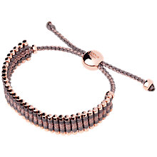 Buy Links of London 18ct Rose Gold Friendship Bracelet Online at johnlewis.com