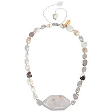 Buy Lola Rose Marti Multi White Agate Necklace, White Online at johnlewis.com