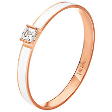 Buy Folli Follie Colourful Enamel and Crystal Bangle, Rose Gold / White Online at johnlewis.com