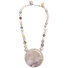 Buy Lola Rose Mirielle Multi White Agate Necklace, White Online at johnlewis.com