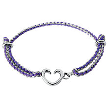 Buy Links of London Heart Catcher Charm Bracelet, Purple Online at johnlewis.com