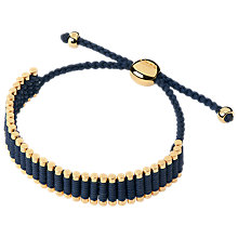 Buy Links of London 18ct Yellow Gold Friendship Bracelet, Navy/Gold Online at johnlewis.com