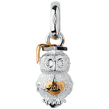 Buy Links of London Sterling Silver and 18ct Gold Vermeil Graduation Owl charm Online at johnlewis.com