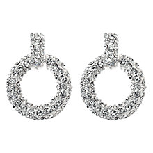 Buy Adele Marie Diamante Flat Hoop Earrings, Silver Online at johnlewis.com