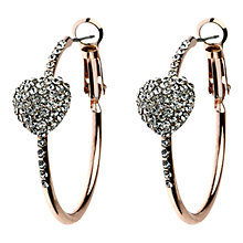 Buy Adele Marie Diamante Heart Hoop Earrings Online at johnlewis.com