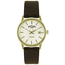 Buy Rotary GS02876/03 Men's Avenger Leather Strap Watch, Brown Online at johnlewis.com