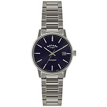 Buy Rotary GB02874/05 Men's Avenger Stainless Steel Bracelet Strap Watch, Silver Online at johnlewis.com
