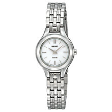 Buy Seiko SUP225P1 Women's Solar Stainless Steel Bracelet Watch, Silver Online at johnlewis.com