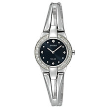 Buy Seiko SUP051P1 Women's Solar Stainless Steel Bracelet Watch, Silver Online at johnlewis.com