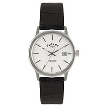 Buy Rotary GS02874/06 Men's Avenger Crocodile Leather Watch, Black Online at johnlewis.com