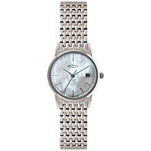 Buy Rotary LB02750/41 Women's Mother of Pearl Dial Bracelet Strap Watch Online at johnlewis.com