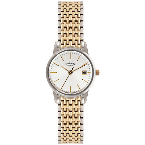 Buy Rotary LB02751/03 Women's Stainless Steel Bracelet Strap Watch, Silver / Gold Online at johnlewis.com
