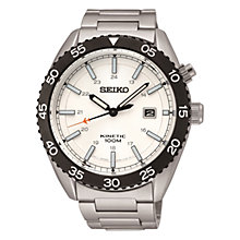 Buy Seiko SKA615P1 Men's Kinetic Stainless Steel Bracelet Strap Watch, Silver Online at johnlewis.com