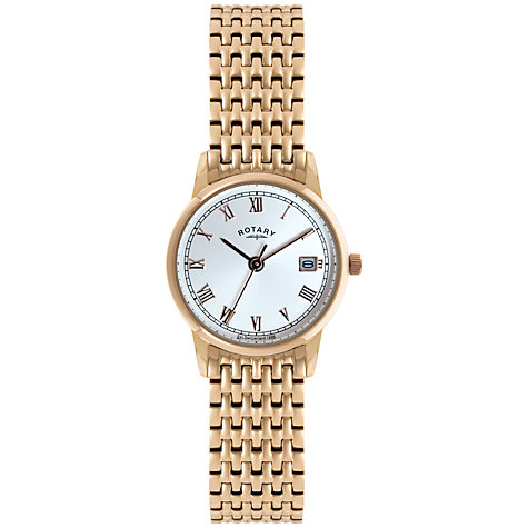 Buy Rotary LB02754/21 Women's Rose Gold Plated Bracelet Watch Online at johnlewis.com