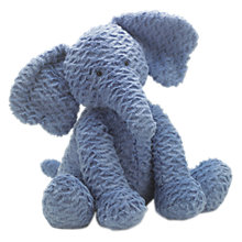 Buy Jellycat Fuddlewuddle Elephant Soft Toy, Blue, Large Online at johnlewis.com