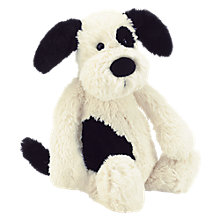 Buy Jellycat Bashful Puppy Toy, White/Black, Large Online at johnlewis.com
