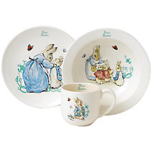 Buy Beatrix Potter Peter Rabbit 3-Piece Ceramic Dinner Set Online at johnlewis.com