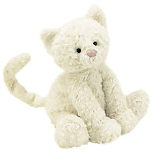 Buy Jellycat Fuddlewuddle Cat Toy, White, Large Online at johnlewis.com