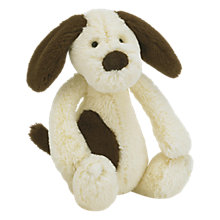 Buy Jellycat Bashful Dog Toy, Cream/Brown, Small Online at johnlewis.com
