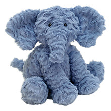 Buy Jellycat Fuddlewuddle Elephant Toy, Blue, Small Online at johnlewis.com