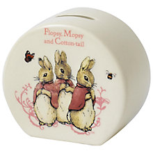 Buy Beatrix Potter Peter Rabbit Flopsy, Mopsy and Cotton Tail Money Box Online at johnlewis.com